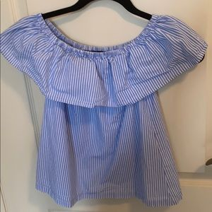 off the shoulder stripped top PERFECT FOR SUMMER!!